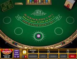 Blackjack dealer face up